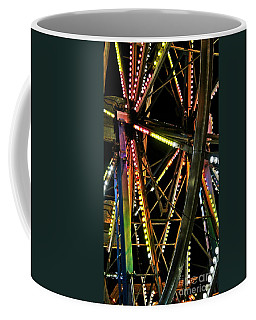 Coffee Mug featuring the photograph Lit Ferris Wheel  by Lilliana Mendez
