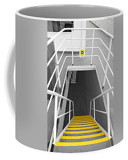 Coffee Mug featuring the photograph Ferry Stairwell by Marilyn Wilson