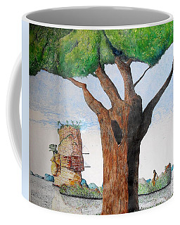 Coffee Mug featuring the painting Fertile Worlds by A  Robert Malcom