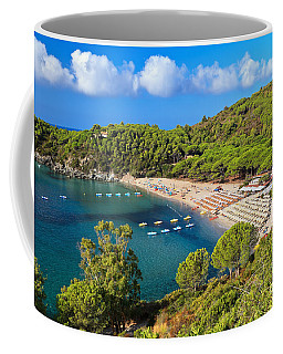 Fetovaia Beach - Elba Island Coffee Mug by Antonio Scarpi