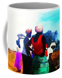 Coffee Mug featuring the painting Field Women by Vannetta Ferguson