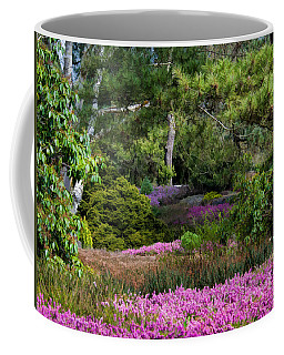 Coffee Mug featuring the photograph Fields Of Heather by Jordan Blackstone