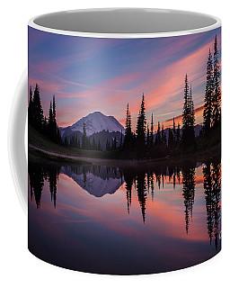 Fiery Rainier Sunset Coffee Mug