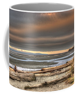 Fiery Sky Over The Salish Sea Coffee Mug by Randy Hall