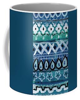 Fiesta In Blue- Colorful Pattern Painting Coffee Mug