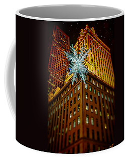 Coffee Mug featuring the photograph Fifth Avenue Holiday Star by Chris Lord