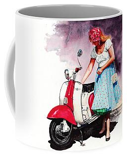 Fifties Lambretta Girl Coffee Mug