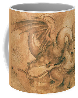 Fight Between A Dragon And A Lion Coffee Mug