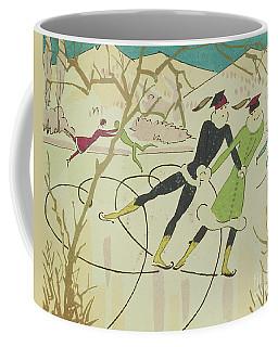 Figure Skating  Christmas Card Coffee Mug