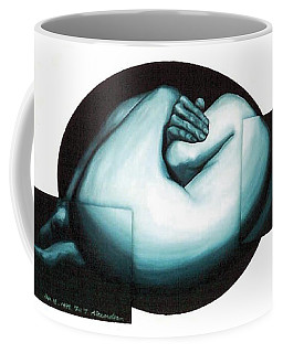 Coffee Mug featuring the painting Figure Untitled No.6 by Fei A