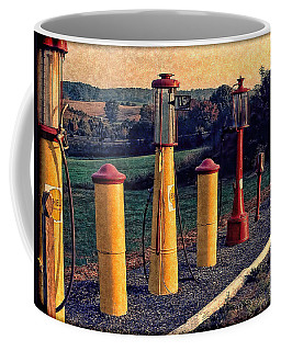 Fill 'er Up Vintage Fuel Gas Pumps Coffee Mug