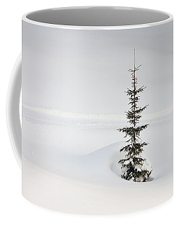 Fir Tree And Lots Of Snow In Winter Kleinwalsertal Austria Coffee Mug