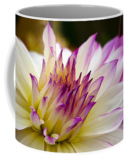 Coffee Mug featuring the photograph Fire And Ice - Dahlia by Jordan Blackstone
