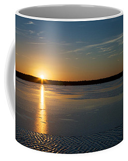 Coffee Mug featuring the photograph Fire And Ice - Sunset On An Icy Lake by Jane Eleanor Nicholas