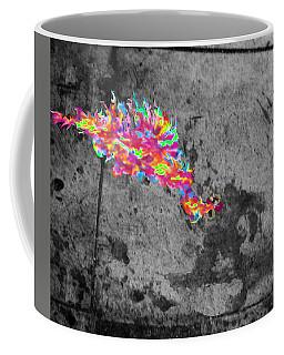 Fire Breathing Man On Skid Row Coffee Mug
