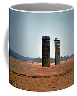 Fct5 And Fct6 Fire Control Towers On The Beach Coffee Mug