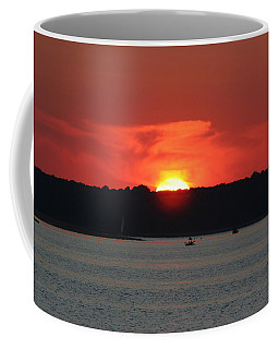 Coffee Mug featuring the photograph Fire In The Sky by Karen Silvestri