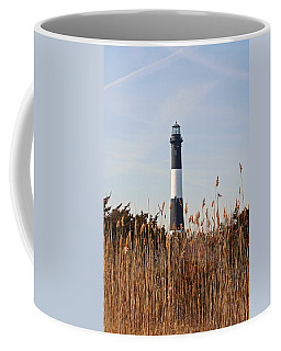 Coffee Mug featuring the photograph Fire Island Tower by Karen Silvestri