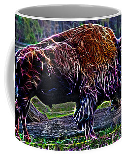 Fire Of A Bison  Coffee Mug by Miroslava Jurcik
