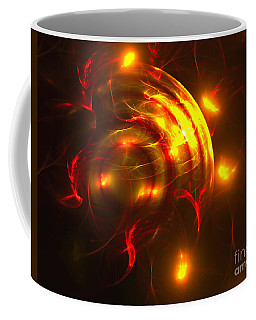Coffee Mug featuring the digital art Fire Storm by Victoria Harrington