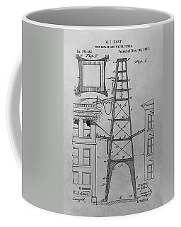 Firefighting Patent Drawing Coffee Mug