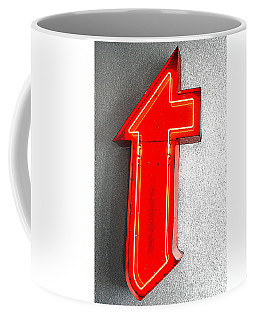 Firestone Building Red Neon T Coffee Mug by Catherine Sherman
