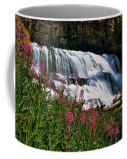 Fireweed Blooms Along The Banks Of Granite Creek Wyoming Coffee Mug