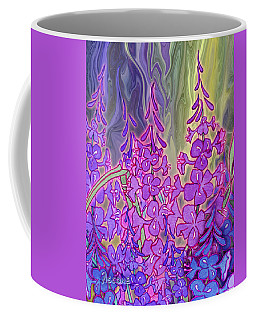 Coffee Mug featuring the mixed media Fireweed Medley by Teresa Ascone