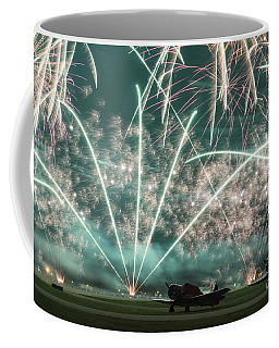 Fireworks And Aircraft Coffee Mug