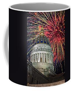 Fireworks At Wv Capitol Coffee Mug