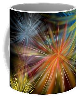 Coffee Mug featuring the digital art Fireworks by Christine Fournier