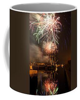Fireworks Exploding Over Salem's Friendship Coffee Mug by Jeff Folger