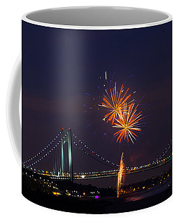 Fireworks On Staten Island South Beach Coffee Mug
