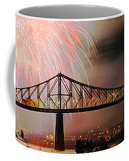 Fireworks Over The Jacques Cartier Coffee Mug