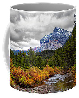 Coffee Mug featuring the photograph First Dusting Of Snow by Mary Jo Allen