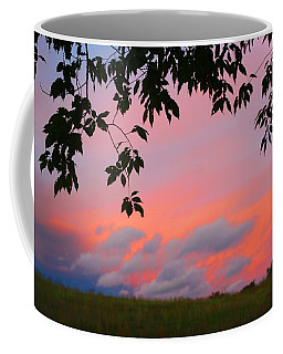 Coffee Mug featuring the photograph First October Sunset by Kathryn Meyer