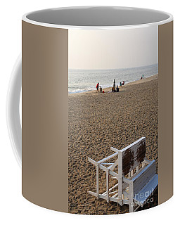 First On The Beach At Bethany Beach In Delaware Coffee Mug