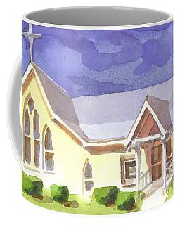 Coffee Mug featuring the painting First Presbyterian Church II Ironton Missouri by Kip DeVore
