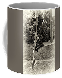 First Time On Stilts At White Pine Village In Ludington Michigan Coffee Mug
