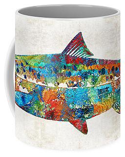 Fish Art Print - Colorful Salmon - By Sharon Cummings Coffee Mug