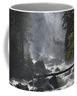 Coffee Mug featuring the photograph Fish Creek Mist by Don Schwartz