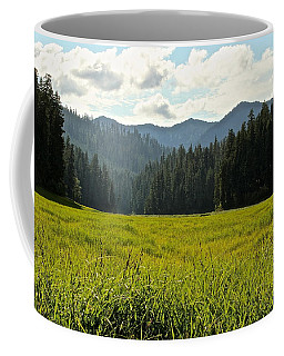 Fish Lake - Open Field Coffee Mug by Laddie Halupa