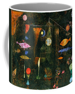 Coffee Mug featuring the painting Fish Magic by Paul Klee