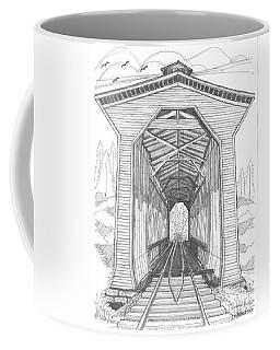 Fisher Railroad Covered Bridge Coffee Mug