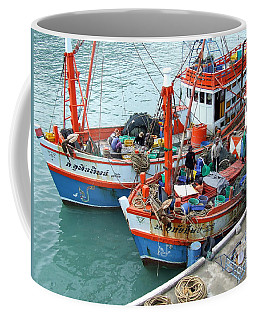 Coffee Mug featuring the photograph Fisherman by Andrea Anderegg