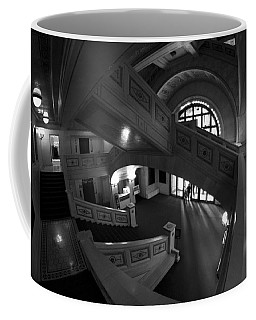 Fisheye View Of Chicago Cultural Center Marble Stairs Coffee Mug