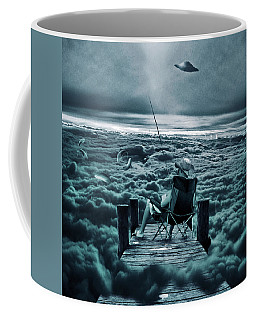 Fishing Above The Clouds Coffee Mug