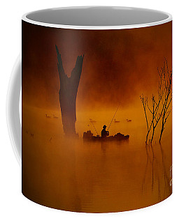 Fishing Among Nature Coffee Mug by Elizabeth Winter