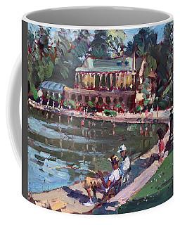 Fishing At Delaware Lake Buffalo Coffee Mug