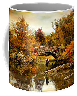 Coffee Mug featuring the photograph Fishing At Gapstow by Jessica Jenney